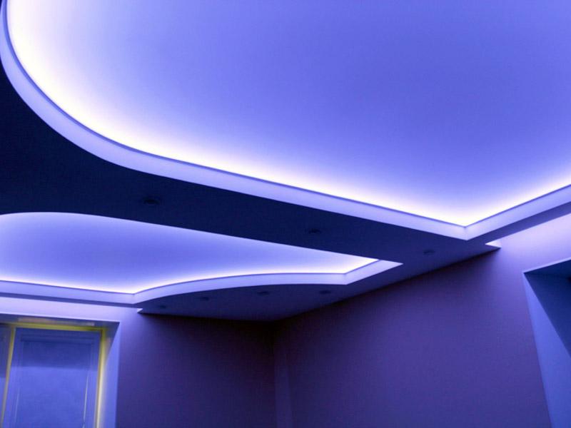 Как сделать натяжные потолки с подсветкой изнутри