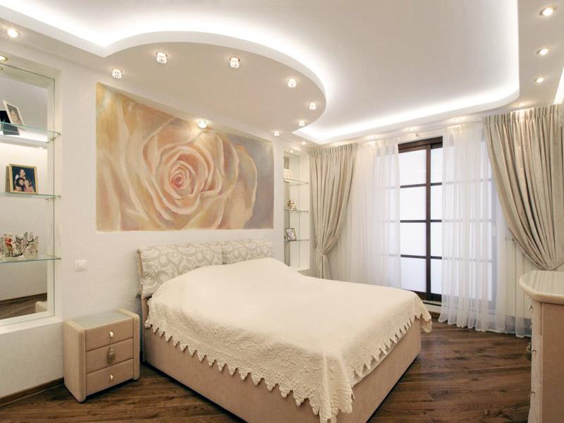 Как сделать спальню из гипсокартона 509