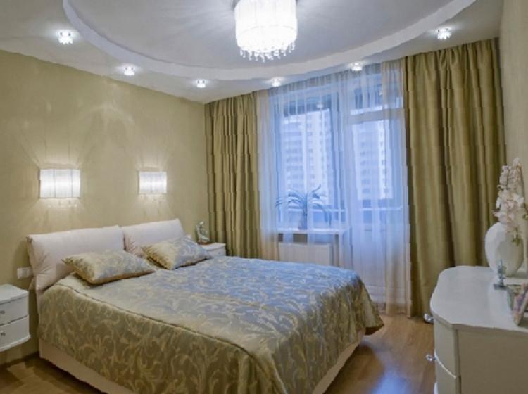 Потолки из гипсокартона своими руками для спальни фото дизайн 48