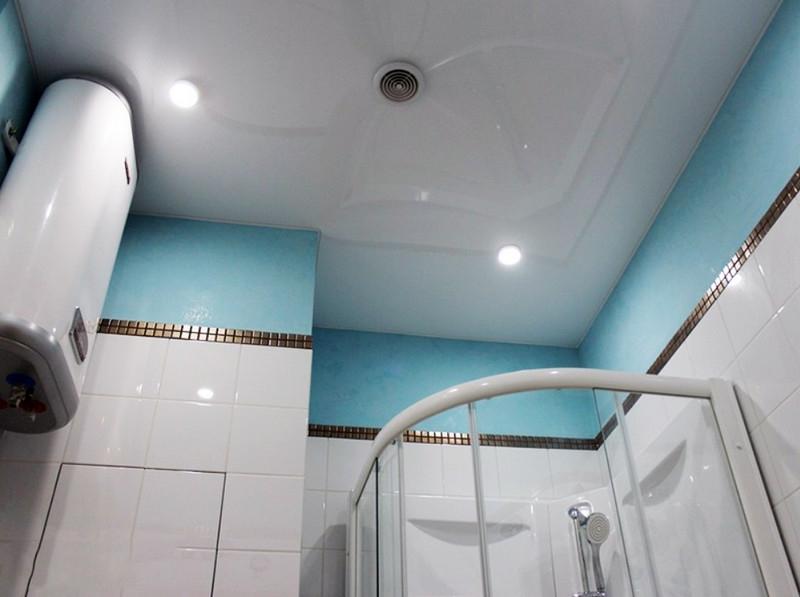 Натяжные потолки в ванной своими руками 49